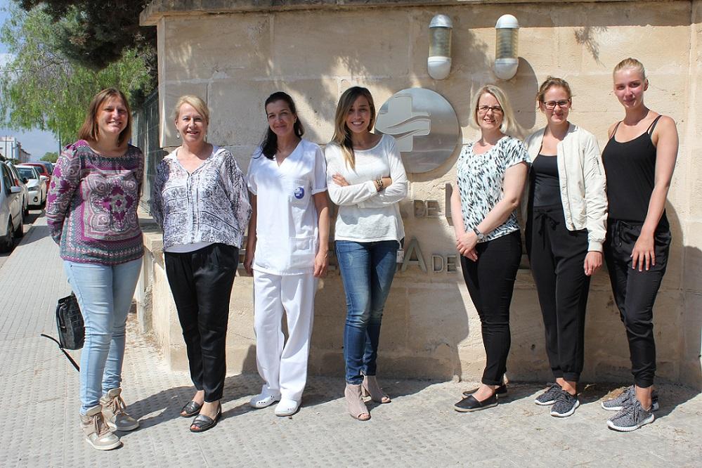 El Complex Sanitari Llevant recibe la visita de representantes del programa ERASMUS de enfermería
